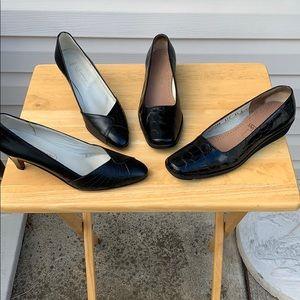 Lot of 2 Salvatore Ferragamo/Andrew Geller Shoes